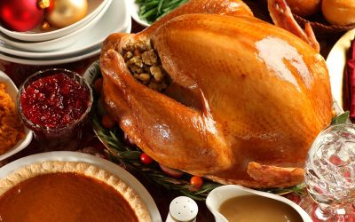 We donated a turkey dinner for a family in need!
