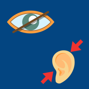 Graphic depicting dual sensory impairment