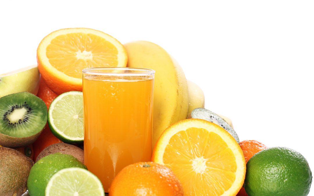 Glass of fresh fruit juice