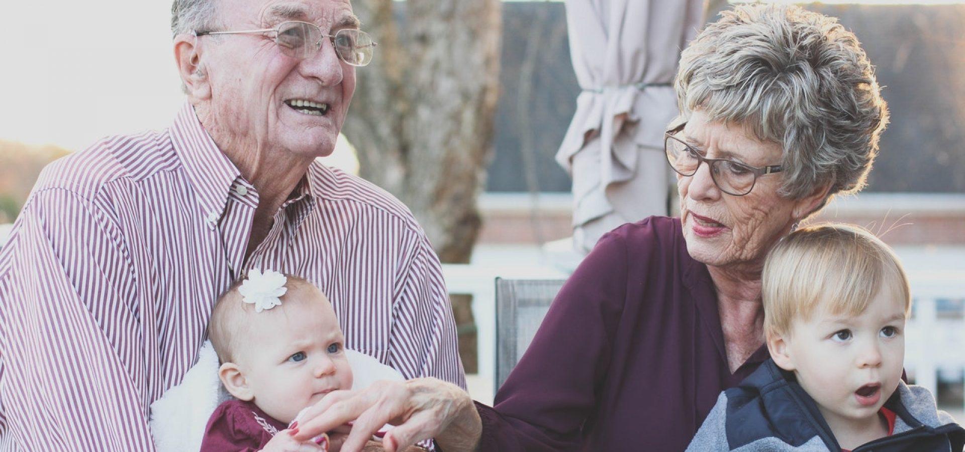 Seniors babysitting their Grandchildren