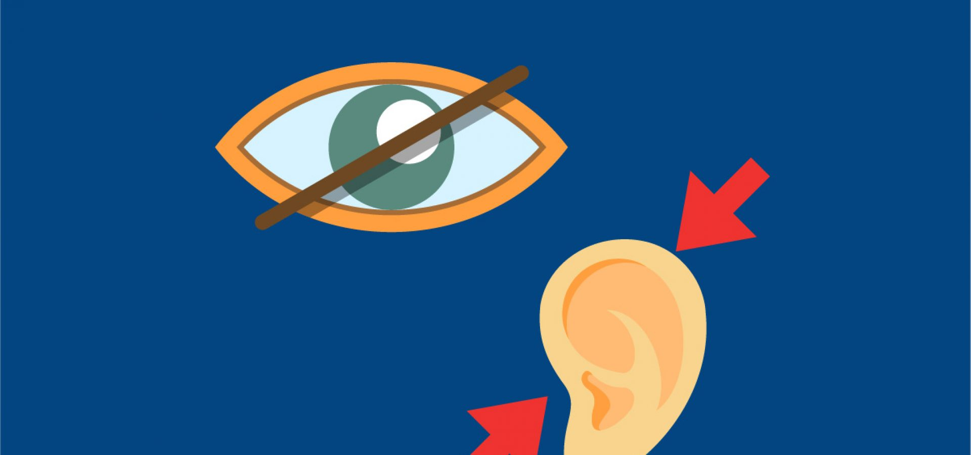 Graphic depicting dual sensory impairment