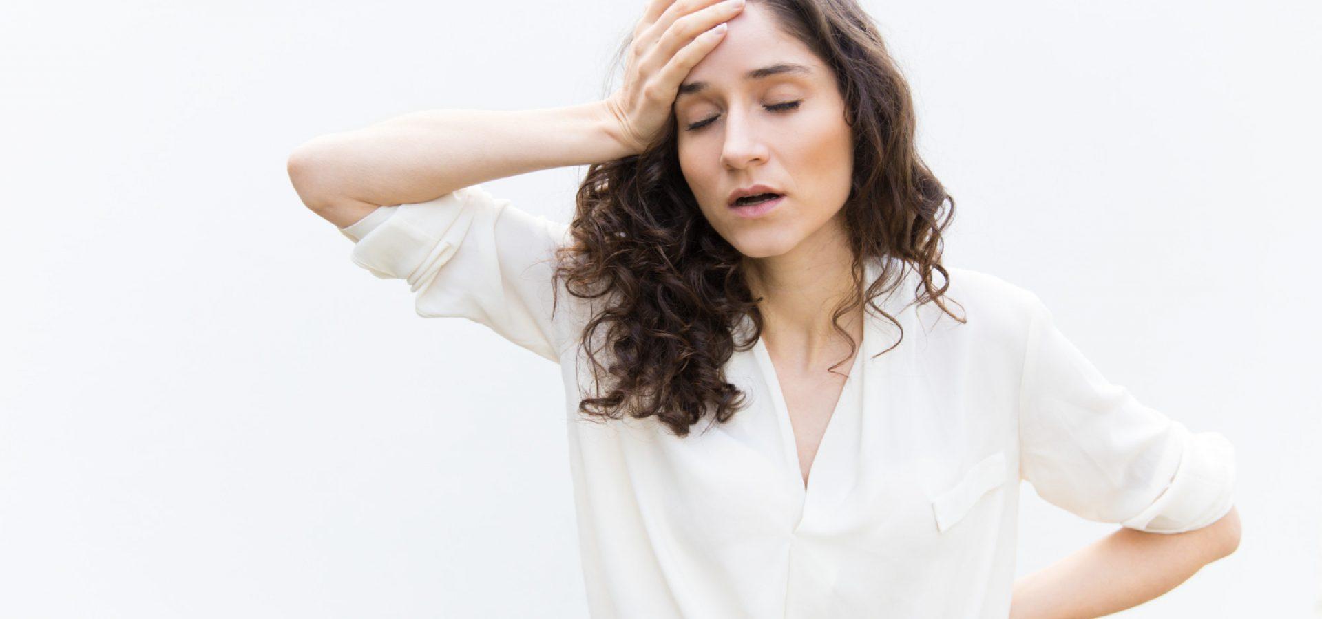 Woman with hearing loss also suffering from vertigo
